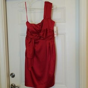 NWT Red One Shoulder Party Dress